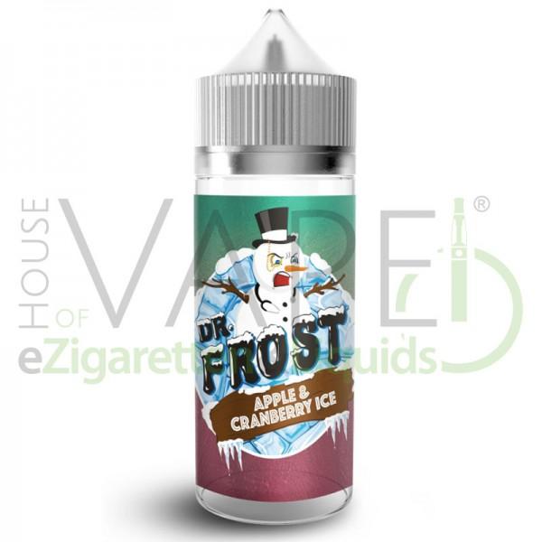 Apple Cranberry Ice Liquid von Dr. Frost ♥ 100ml Shortfill ✔ Knackiger Apfel, leicht herbe Cranberries ✔