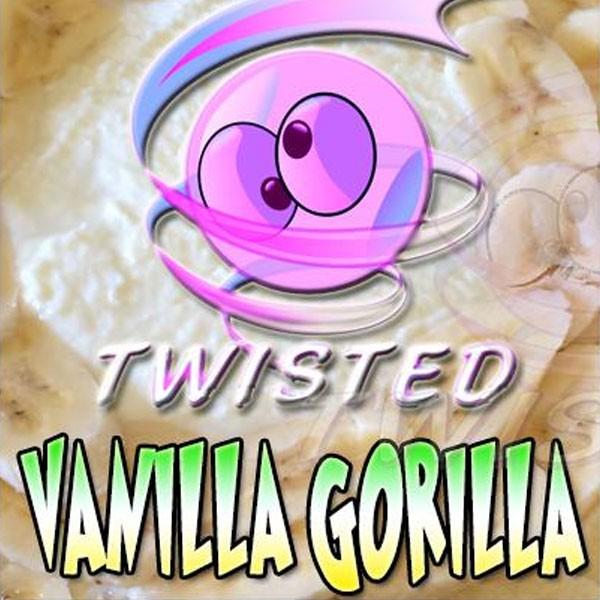 Vanilla Gorilla Aroma von Twisted Vaping ♥ Banane, Kokosnuss, Vanille ✔ 8-13% Dosierung ✔ Auch in unseren Shops ✔ Ab 50€ versandkostenfrei ✔