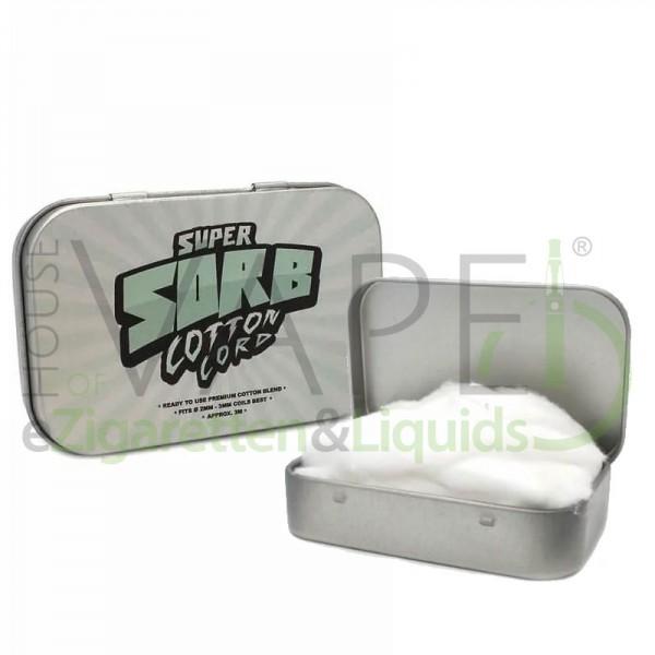 Super Sorb Cotton Cord ♥ Kein Eigengeschmack ✔ Sehr Saugfähig ✔ Ca. 3m Wattestrang ✔ Leichte Portionierung ✔ Auch in unseren Shops ✔