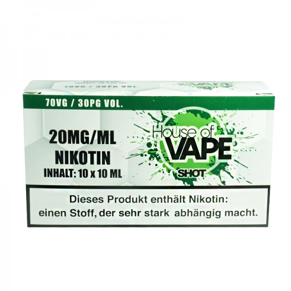 10x HoV Nikotinshot 70/30 VG/PG 20mg