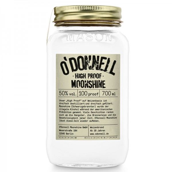 O'Donnell Moonshine High Proof (700ml, 50%vol.)