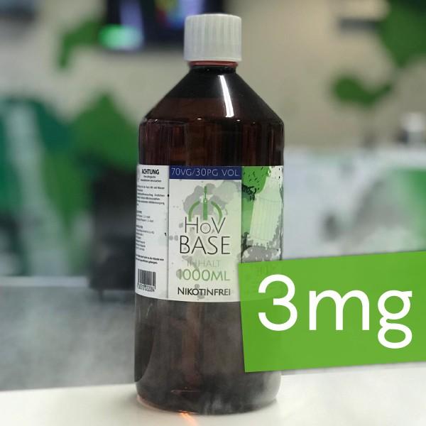 HoV Base 1000ml-Flasche 70/30 3mg Nikotin