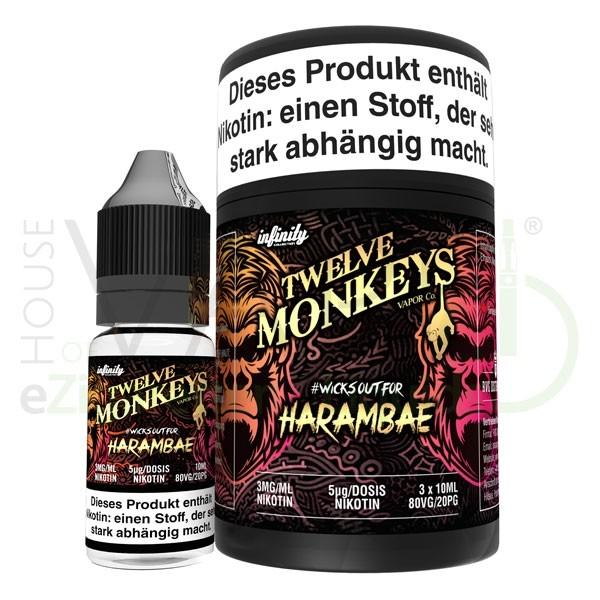 Harambae Liquid von 12Monkeys ♥ 3x10ml ✔ Zitrusfrüchte ✔ Schneller Versand ✔ Auch in unseren Shops ✔ Ab 50€ versandkostenfrei ✔