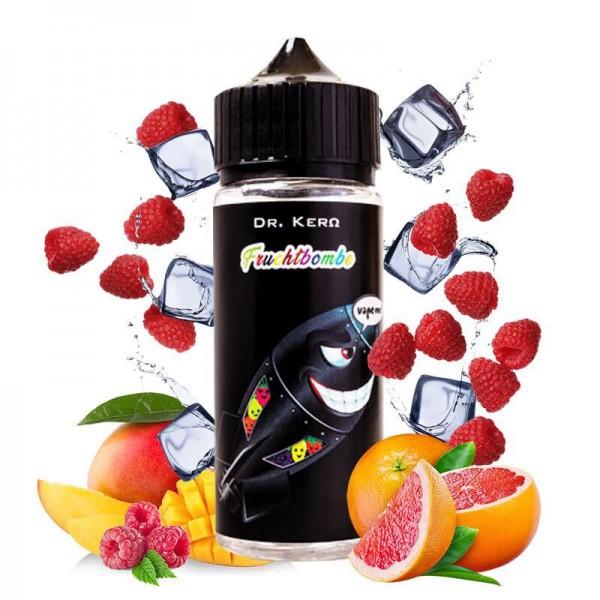 Dr. Kero Fruchtbombe ♥ 100ml Shortfill ✔ Grapefruit, Himbeere, Mango, leichte Frische ✔ In unseren Shops erhältlich ✔