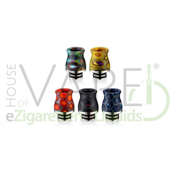Resin 510 DripTip (Mundstück) X1 ♥ 510er Anschluß ✔ Aus Epoxidharz und Edelstahl ✔ 2 O-Ringe für festen Halt ✔ Auch in unseren Shops verfügbar ✔