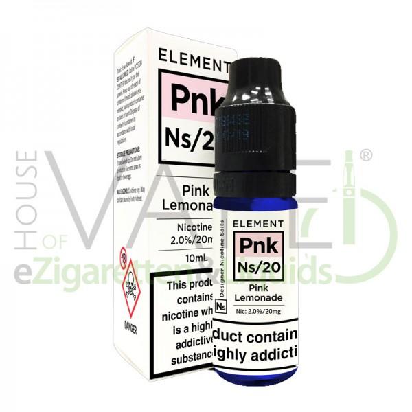 Pink Lemonade Pnk Ns20 Liquid von Element ♥ Pinke Limo mit roten Früchten und leicht Zitrus ✔ Mit Nikotinsalz ✔