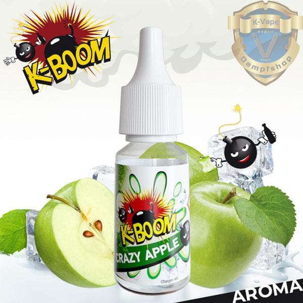 Crazy Apple Aroma von K-Boom ♥ Gedopter Apfel / Eisapfel ✔ 4-7% Dosierung ✔ 2-5 Tage Reifezeit ✔ Auch in all unseren Shops ✔