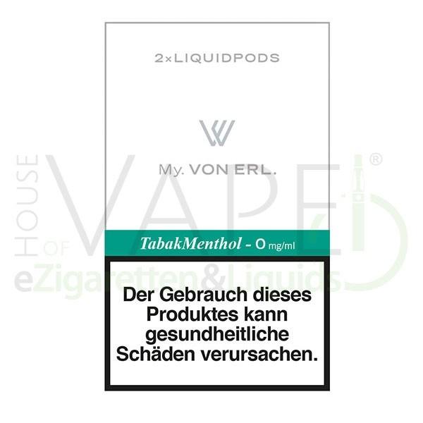 Tabak Menthol LiquidPOD ♥ Passen in MY Von Erl und My Blue ✔ TOP Preis ✔ Schneller Versand ✔ Günstig bestellen ✔