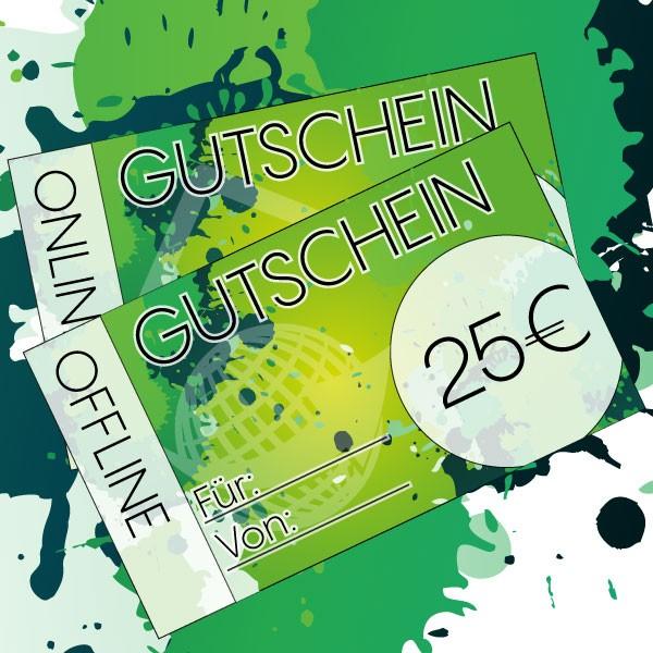 Gutschein 25 € für alle House of Vape Ladengeschäfte ♥ Auf alle Produkte einlösbar ✔ eZigaretten, Liquids und Zubehör ✔