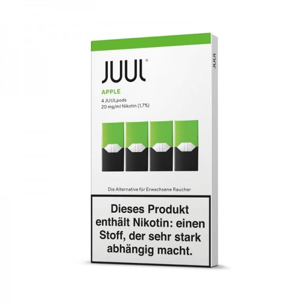 Juul Pods Apple 4er-Pack ♥ Fruchtiger, intensiver Apfel ✔ 4 Stück ✔ Einfach aufstecken und losdampfen ✔ Auch in unseren Geschäften ✔ Schneller Versand ✔
