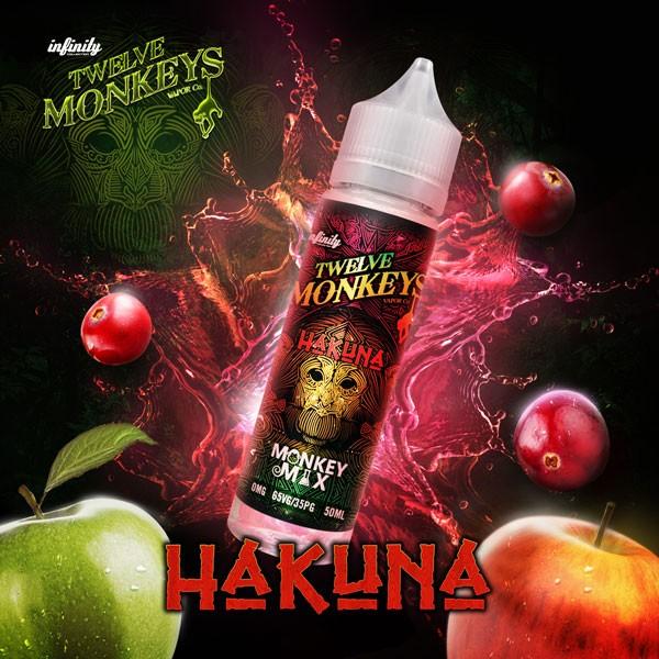 Hakuna Liquid von 12Monkeys ♥ Shortfill ✔ Äpfel, Cranberry ✔ Schneller Versand ✔ Auch in unseren Shops ✔ Ab 50€ versandkostenfrei ✔