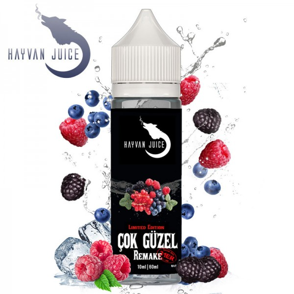 Cok Güzel Remake Aroma von Hayvan Juice ♥ Beerenmix mit Frische ✔ Auch in unseren Shops ✔ Schneller Versand ✔ Einfache Dosierung ✔
