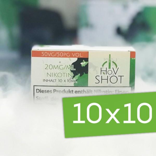 10x HoV Nikotinshot ♥ VPG 50/50 ✔ 20mg Nikotin ✔ Einfach Nikotin dosieren ✔ Auch im Set mit Base verfügbar ✔ Schneller Versand ✔ In den Shops verfügbar ✔