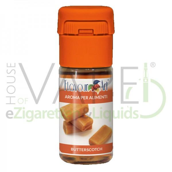 Butterscotch Aroma von FlavourArt ♥ Süß und klebrig ✔ Schneller Versand ✔ 3-6% Dosierung bei 5-7 Tag Reifezeit ✔