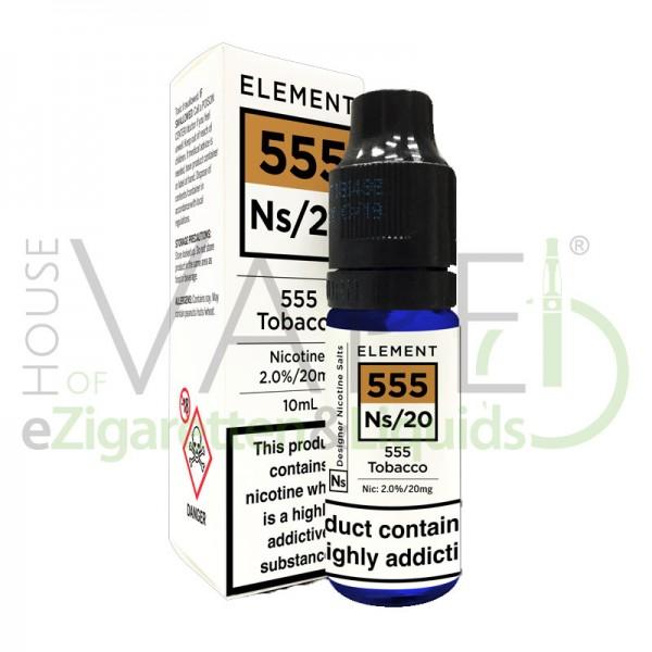 abak/Tobacco (555) Ns20 Liquid von Element ♥ Leicht nussiger Tabak ✔ Mit Nikotinsalz ✔