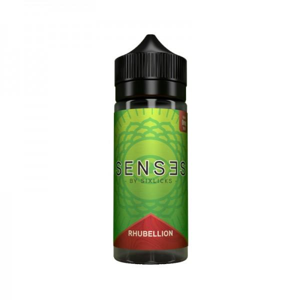 Rhubellion Liquid von Senses by SixLicks ♥ Apfel, Rhabarber ✔ 100ml Shortfill ✔ Schneller Versand ✔