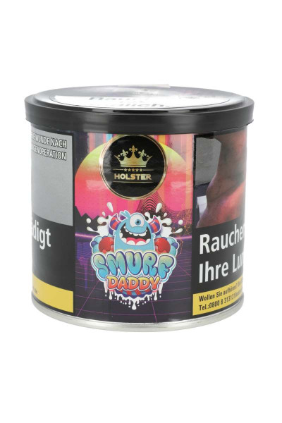 Holster Shisha Tabak Smurf Daddy 200g ♥ Erfrischende Waldfrüchte ✔ Intensiver Geschmack ✔ Schneller Versand ✔ Nur ab 18 Jahren ✔