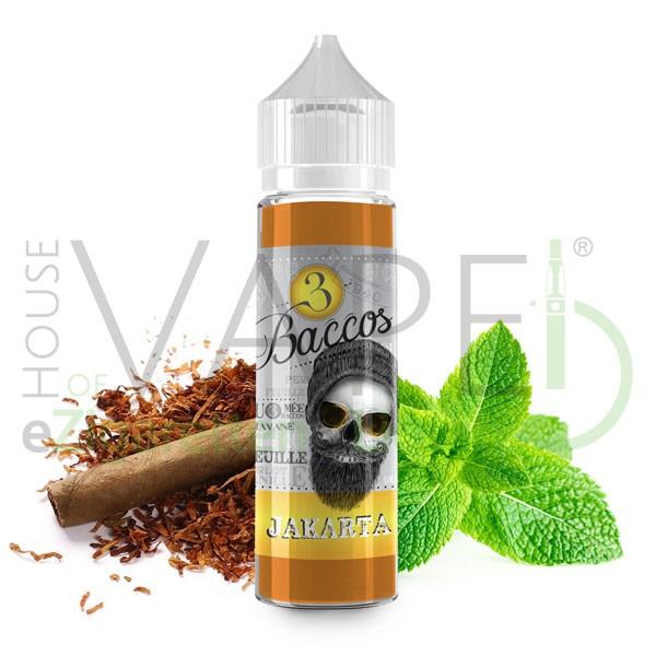 Jakarta Liquid von 3 Baccos ♥ Shortfill 50ml ✔ 70/30 VG/PG ✔ Tabak mit leichter Minze ✔ Schneller Versand ✔