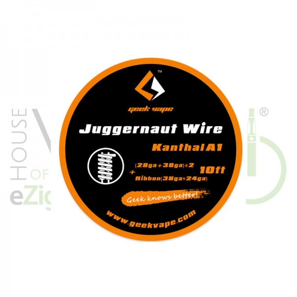 Juggernaut Kanthal A1 von Geekvape ♥ Ca. 3 Meter ✔ Ausgefallene Drahtsorte ✔