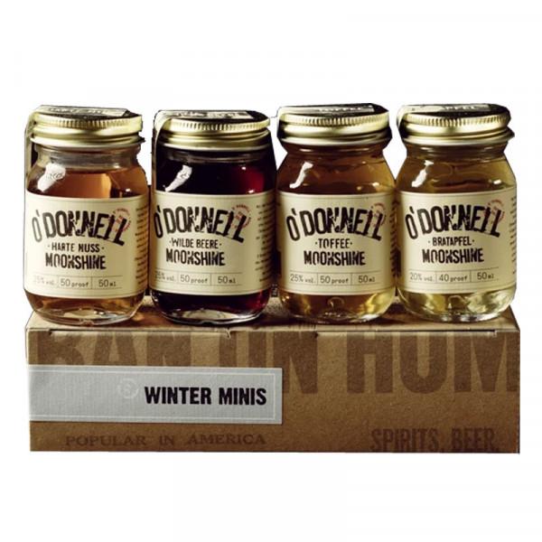 O'Donnell Moonshine Mini Winter Set Likör (4x50ml)