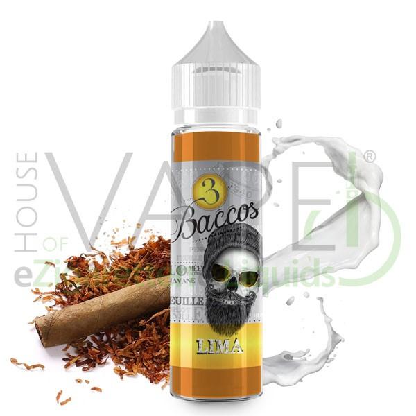 Lima Liquid von 3 Baccos ♥ Shortfill 50ml ✔ 70/30 VG/PG ✔ Tabak mit leichter Cremenote ✔ Schneller Versand ✔