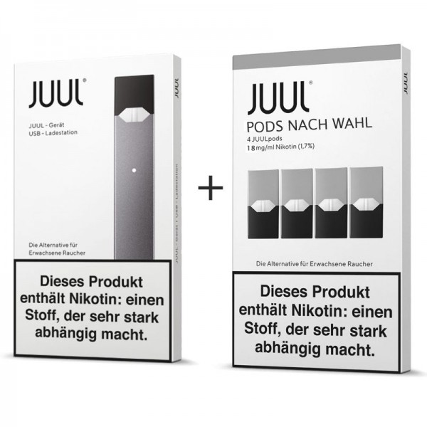 Juul Device Kit inkl. 4x Pods nach Wahl