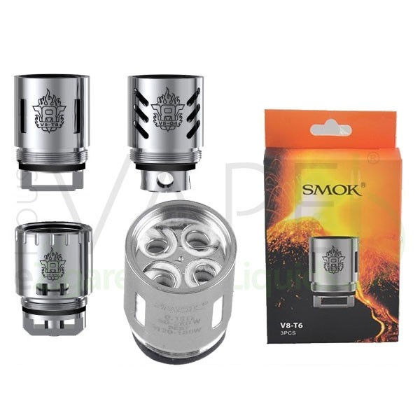 Smok TFV8 Kerne ♥ 3er-Pack ✔ Verschiedene Arten ✔ Dampf und Geschmack ✔ Auch in unseren Shops ✔ Schneller Versand ✔