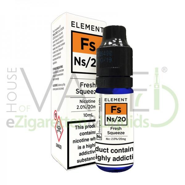 Fresh Squezze Fs Ns20 Liquid von Element ♥ Frisch gepresster O-Saft ✔ Mit Nikotinsalz ✔