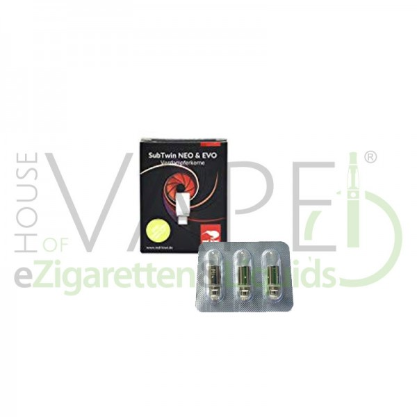 RedKiwi SubTwin Neo & Evo Kerne ♥ 3er-Pack ✔ 1,2 Ohm ✔
