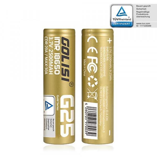 Golisi G25 18650 Batterie