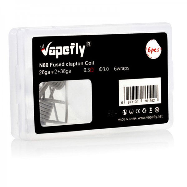 Vapefly N80 Fused Clapton Coils 6x 0,3 Ohm