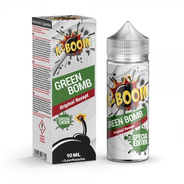 Green Bomb Special Edition Aroma von K-Boom ♥ Kaktus, Kiwi, Koolada ✔ 10% ✔ Inkl. 120ml Leerflasche ✔