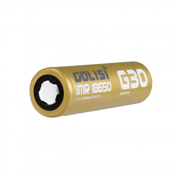 Golisi G30 Batterie ♥ 18650 ✔ 3000mAh ✔ 25A ✔ Hochleistungsakku (High Drain) ✔ In den Geschäften vorrätig ✔