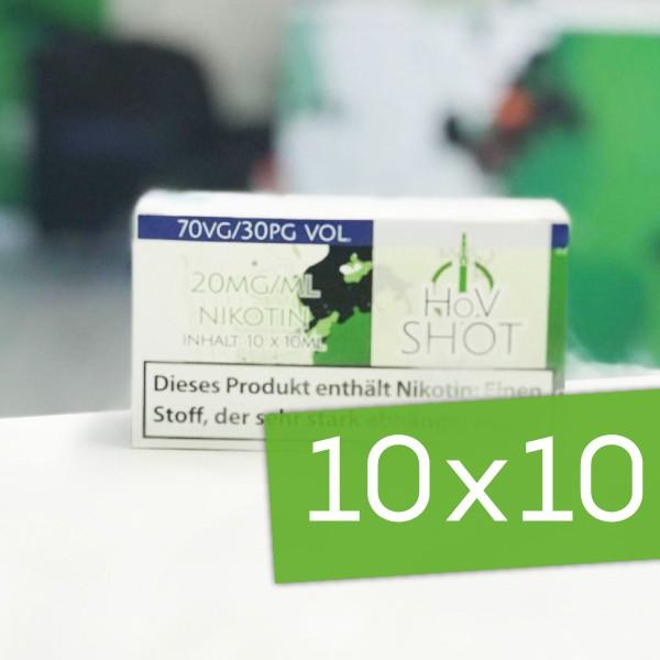 10x HoV Nikotinshot ♥ 70/30 VG/PG ✔ 20mg Nikotin ✔ Einfach Nikotin dosieren ✔ Auch im Set mit Base verfügbar ✔ Schneller Versand ✔ In den Shops verfügbar ✔