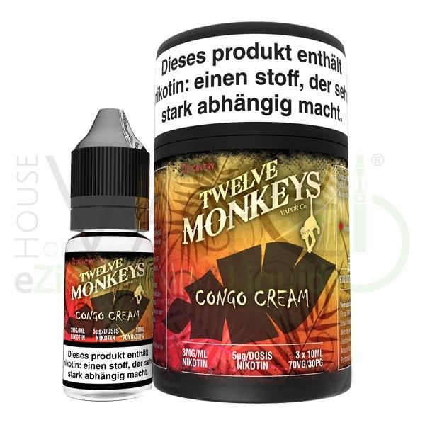 Congo CreamLiquid von 12Monkeys ♥ 3x10ml ✔ Vanillepudding mit Erdbeere ✔ Schneller Versand ✔ Auch in unseren Shops ✔ Ab 50€ versandkostenfrei ✔