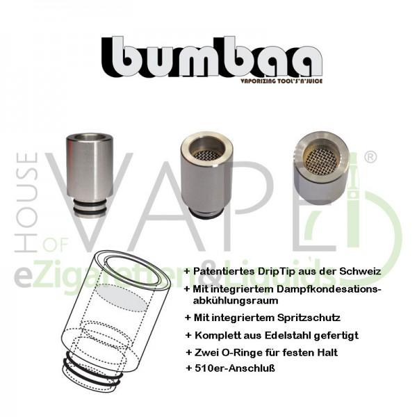 Bumbaa Splash Guard DripTip (Mundstück) ♥ 510er Anschluß ✔ Patentiertes Kühlsystem ✔ Mit Spritzschutz ✔