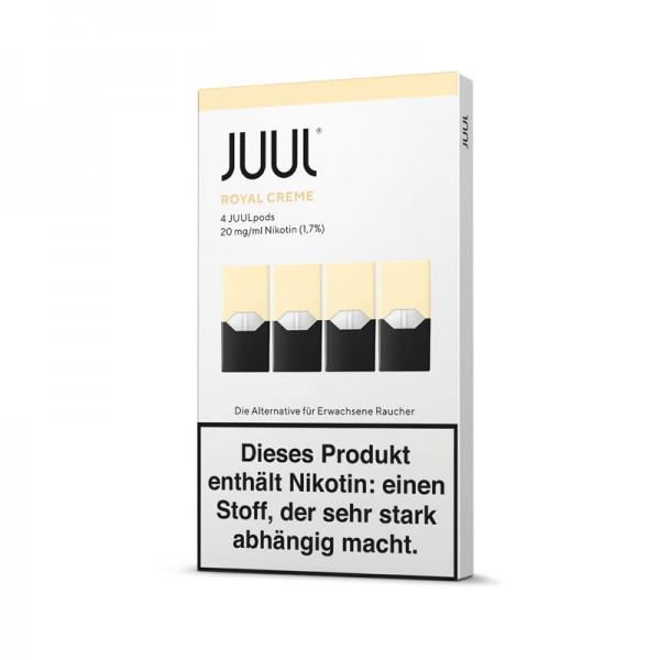 Juul Pods Royal Creme 4er-Pack ♥ Creme Brulée ✔ 4 Stück ✔ Einfach aufstecken und losdampfen ✔ Auch in unseren Geschäften ✔ Schneller Versand ✔