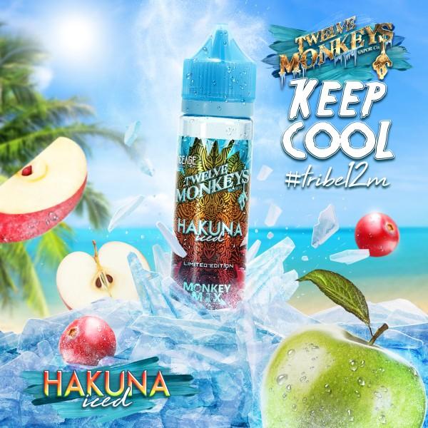 Ice Age Hakuna Iced Liquid von 12Monkeys ♥ Shortfill ✔ Äpfel, Cranberry, Koolada ✔ Schneller Versand ✔ Auch in unseren Shops ✔ Ab 50€ versandkostenfrei ✔