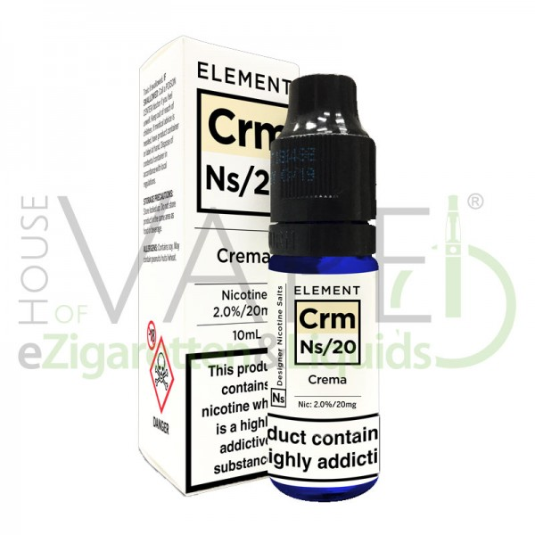 Crema Crm Ns20 Liquid von Element ♥ Cremige Vanille ✔ Mit Nikotinsalz ✔