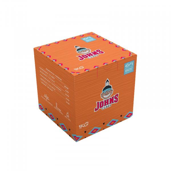 Johns Cubes Kohle 1kg | Brennt bis zu 100min | Aus Kokos | Premiumqualität | Naturkohle | Schneller Versand