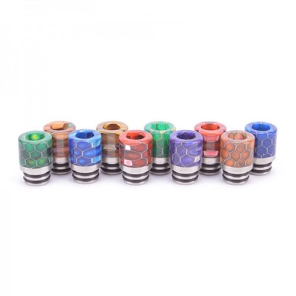 510 Mundstück (DripTip) Epoxidharz Wabenmuster mehrfarbig