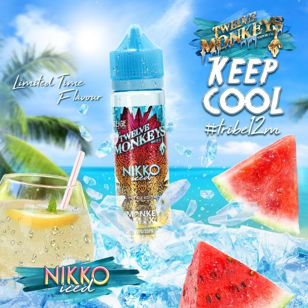 IceAge Nikko Iced Liquid von 12Monkeys ♥ Shortfill ✔ Wassermelone, Limonade, Crushed Ice ✔ Schneller Versand ✔ Auch in unseren Shops ✔ Ab 50€ versandkostenfrei ✔