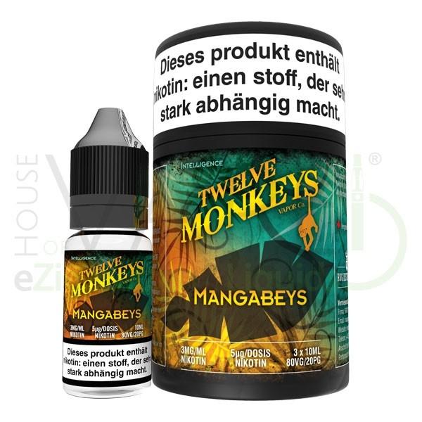 Mangabeys Liquid von 12Monkeys ♥ 3x10ml ✔ Mango, Ananas, Guave + X ✔ Schneller Versand ✔ Auch in unseren Shops ✔ Ab 50€ versandkostenfrei ✔