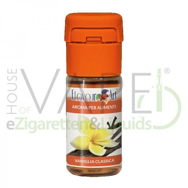 Vanille Classic Aroma von FlavourArt ♥ Süße, klassische Vanille ✔ Schneller Versand ✔ 3-6% Dosierung bei 5-7 Tag Reifezeit ✔