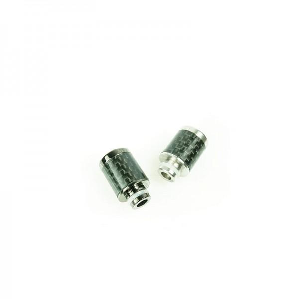 DripTip Carbon/Edelstahl ♥ 510er Anschluß ✔ Stylisch ✔ Aus Edelstahl & Carbon  ✔ Auch in unseren Shops verfügbar ✔
