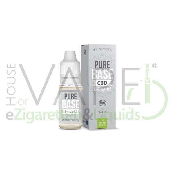 Pure Base CBD Liquid von Harmony ♥ Geschmacksneutrale Base mit CBD ✔ Mit Cannabidiol ✔ In unseren Shops vorrätig ✔ Schneller Versand ✔ Günstig bestellen ✔