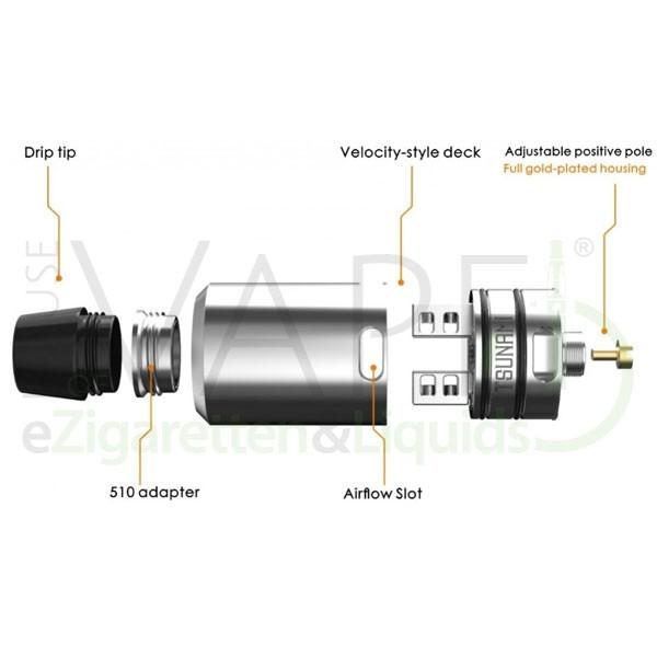 Tsunami RDA von Geekvape ♥  Dual ✔ 22mm ✔ Inkl. 510er DripTip-Adapter ✔