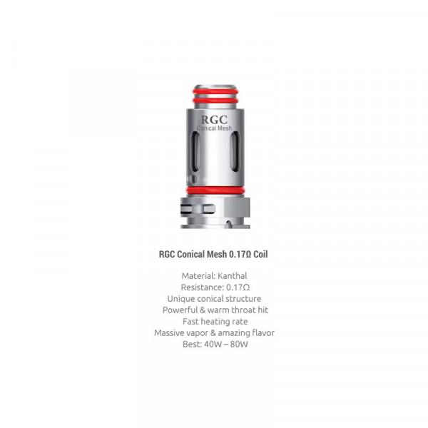 Smok RPM80 RGC Conical Mesh Coils 0,17 Ohm 5er-Pack