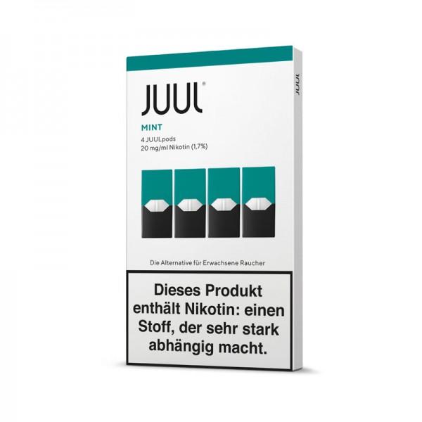 Juul Pods Mint 4er-Pack ♥ Fruchtige Minze mit eisigem Finish ✔ 4 Stück ✔ Einfach aufstecken und losdampfen ✔ Auch in unseren Geschäften ✔ Schneller Versand ✔