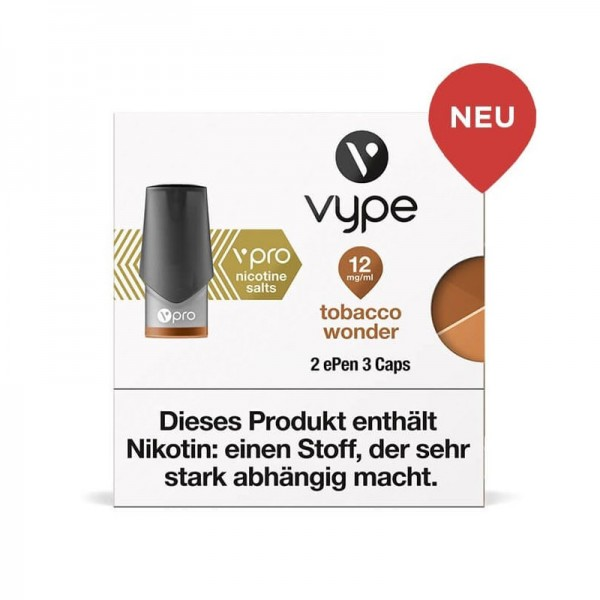 Vype ePen 3 vPro Caps Tobacco Wonder